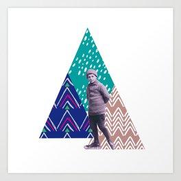 skieur Art Print