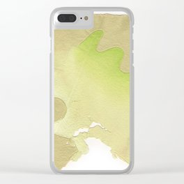abstract lines on handmade paper Clear iPhone Case