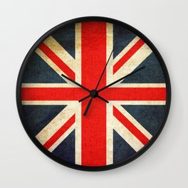 Vintage Union Jack British Flag Wall Clock