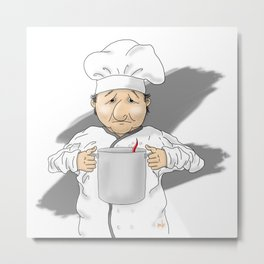 Compliments to the Chef Metal Print