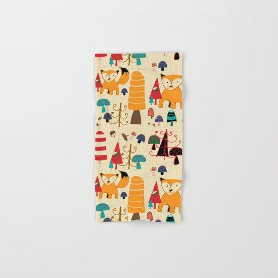 woodland fox Hand & Bath Towel