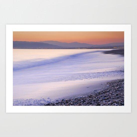 Orange calm at the sea Art Print