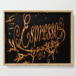 Espresso Coffee Artistic Typography Serving Tray