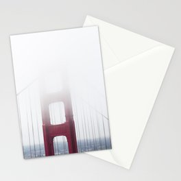 Golden Gate Bridge in Fog Stationery Cards