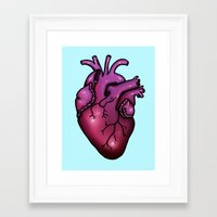 anatomical heart Framed Art Prints featuring Anatomical Heart by Hungry Designs
