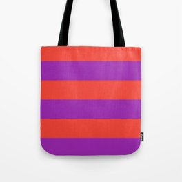 Even Horizontal Stripes, Red and Purple, XL Tote Bag