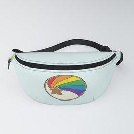 Rainbow Meeple Swirl Fanny Pack