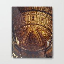 Golden Roman Basilica Metal Print