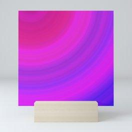 Neon Pink Blue Circles Mini Art Print