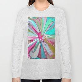 234 - Abstract flower design Long Sleeve T-shirt