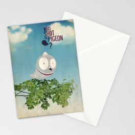 WHO SHOT THE PIGEON? Stationery Cards