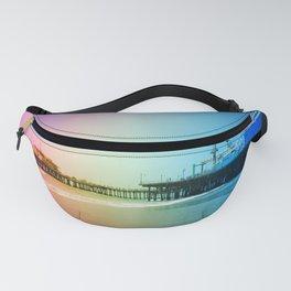 Santa Monica Pier Rainbow Colors Fanny Pack