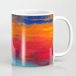 Horizon Blue Orange Red Abstract Art Coffee Mug