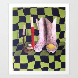 Spooky Boots Art Print