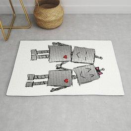 Lovebots Doodle Rug
