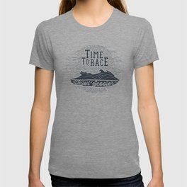 Time To Race. Water Scooter T-shirt