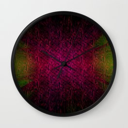 Red Room Abstract Wall Clock