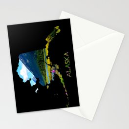 Alaska Outline - God's_Country Stationery Cards