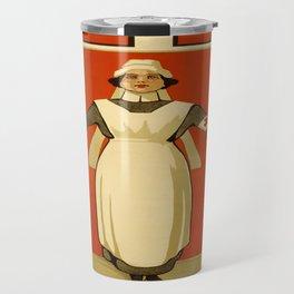Vintage poster - Red Cross Travel Mug