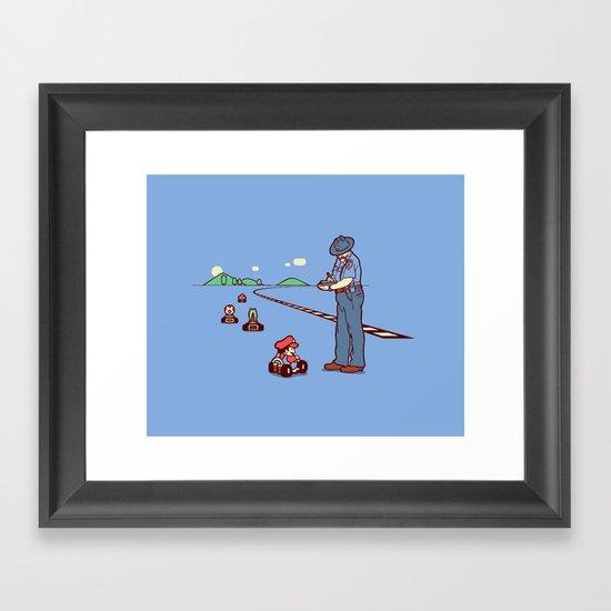 80 MPH Framed Art Print