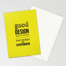 Good Design goes to Heaven, Bad Design goes Everywhere Stationery Cards