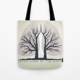 Trees - the lungs of the planet. Icon of ecology in nature Tote Bag