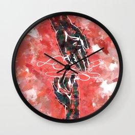 Akai Ito - Red String of Fate Wall Clock