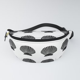 Black Seashell Fanny Pack