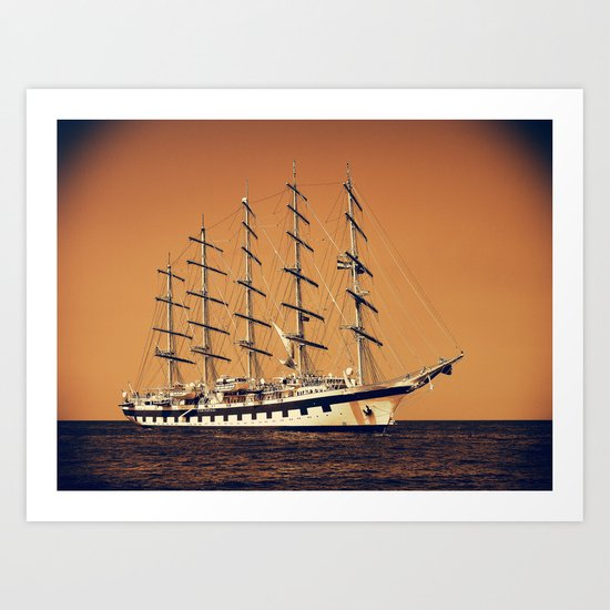 Old Ship Art Print