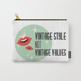 Vintage Style not Values midcentury retro pin up Carry-All Pouch