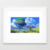 castle in the sky Framed Art Prints featuring Castle in the sky by Roberto Nieto