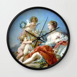 Allegory Of Music Wall Clock