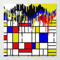 mondrian Canvas Prints featuring MONDRIAN by DIVIDUS DESIGN STUDIO