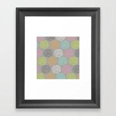 Flowers-triangles Framed Art Print