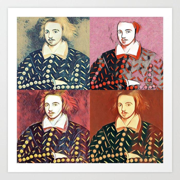 CHRISTOPHER MARLOWE (POET, ELIZABETHAN, SPY) Art Print