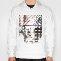 flag Hoodies featuring FLAG by TOO MANY GRAPHIX