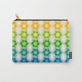 Colorful Polygon Pattern Carry-All Pouch