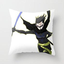 The Black Bat Throw Pillow