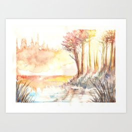 Watercolor Landscape 03 Art Print