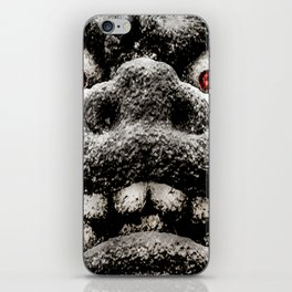 Monster Sculpture Extreme Close Up Illustration iPhone Skin