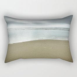 Silver Blue Sea Rectangular Pillow