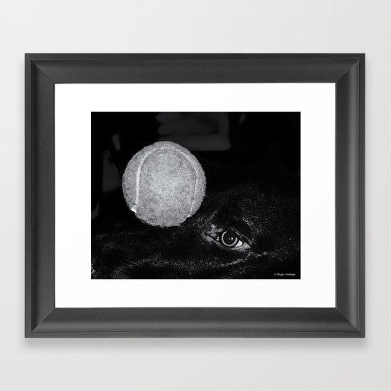 Keep Your Eye On The Ball Framed Art Print
