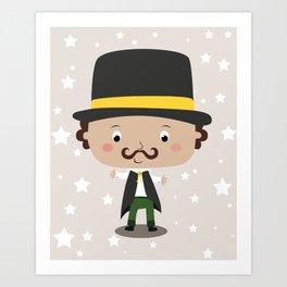 A baby magician Art Print