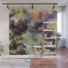 Contemporary Abstract Painting in Purple / Violet Color Wall Mural
