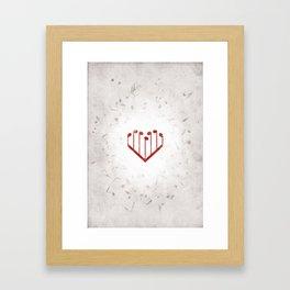 Music Heart gray Framed Art Print