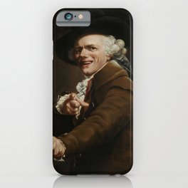 Joseph Ducreux - Self-portrait of the Artist in the Guise of a Mocker iPhone Case