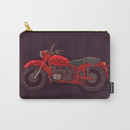 red vintage motorcycle Carry-All Pouch
