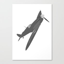 Silver Spitfire Canvas Print
