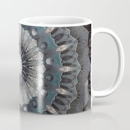 Gray metal Mandala Coffee Mug