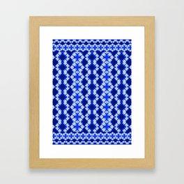 indigo shibori print Framed Art Print